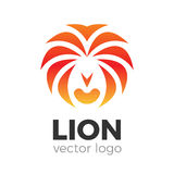 Lion vector logo. Animal lion head vector logo illustration. Brand logo template Royalty Free Stock Photography