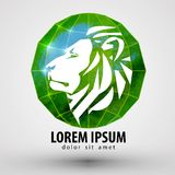 Lion vector logo design template. animal or Zoo Royalty Free Stock Images