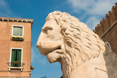 Lion at the Venetian Arsenal, Venice, Italy Royalty Free Stock Images