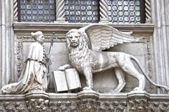 The lion of Venice Royalty Free Stock Photography