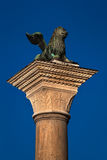 The Lion of Venice, Ancient Bronze Winged Lion Sculpture in the Royalty Free Stock Photo