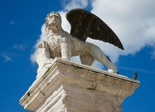 Venice`s lion symbol of the Republic of Venice Royalty Free Stock Images