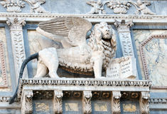 Lion Of Venice. A sculpture of a winged lion in Venice Royalty Free Stock Photo