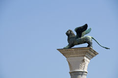 Lion of Venice. Lion of St. Mark's Square in Venice Royalty Free Stock Photos