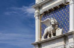 Lion Venice symbol Royaltyfri Fotografi