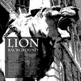 Lion vintage illustration Stock Photos