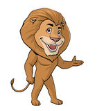 Lion welcome. Illustration on white background of a Lion welcome Royalty Free Stock Images