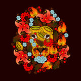Lion , which consists of the flowers . Royalty Free Stock Image