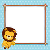 Lion with white blank Stock Image