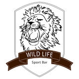 Lion wild life logo Royalty Free Stock Photo