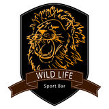 Lion wild life logo Stock Images