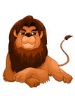 Lion wild predator character cartoon style  illustration Stock Photos