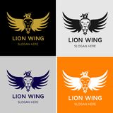 Lion Wing Logo Template. Design for minimalist and modern logo. Simple work and adjusted to suit your needs Royalty Free Stock Photography