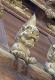 Lion Wood Carving Image libre de droits