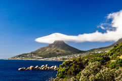 Lion's Head in clouds - Cape Town, South Africa Stock Photo