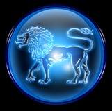 Lion zodiac button icon Royalty Free Stock Photography