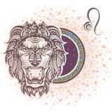 lion zodiaque des symboles douze de signe de conception de dessin-modèles divers Photographie stock libre de droits