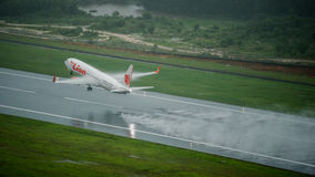 Lionair空中航线飞机,波音739,离开在普吉岛ai 免版税库存照片