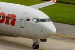 Lionair dróg oddechowych samolotowy kokpit przez taxi Zdjęcia Stock