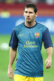 Lionel Andres Messi. From FC Barcelona  at the beginning of the friendly football match between FC Dinamo Bucharest and FC Barcelona, 11th August 2012,National Royalty Free Stock Images