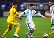 Lionel Andres Messi. During the football match between Romania and Argentina, 5th March 2014, National Stadium, Bucharest, Romania. Final score: 0-0 Stock Images