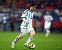 Lionel Andres Messi. During the football match between Romania and Argentina, 5th March 2014, National Stadium, Bucharest, Romania. Final score: 0-0 Royalty Free Stock Image