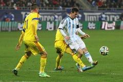 Lionel Messi в действии Стоковая Фотография RF