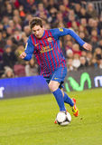 Lionel Messi in actie Stock Foto's