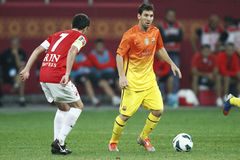 Lionel Messi. Lionel Andres Messi, from FC Barcelona during the friendly football match between FC Dinamo Bucharest and FC Barcelona, 11th August 2012, National Stock Images