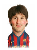 Lionel Messi Caricature Portrait. For editorial use Royalty Free Stock Photos