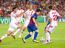 Lionel Messi dribbling Stock Photos