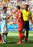 Lionel Messi and Eden Hazard Coupe du monde 2014 Royalty Free Stock Photo