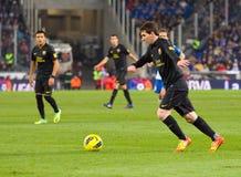 Lionel Messi en la acción Fotografía de archivo
