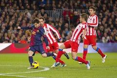 Lionel Messi en la acción Imagen de archivo