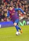 Lionel Messi en la acción Fotos de archivo