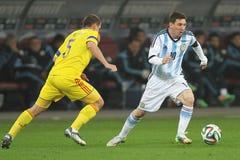Lionel Messi en la acción Foto de archivo libre de regalías