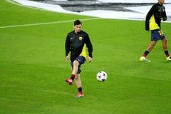 Lionel Messi, estrela mundial do futebol, Argentina, clube: FC Barcelona, Espanha Imagens de Stock