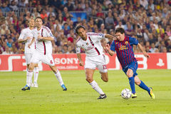 Lionel Messi - FC Barcelona vs Milan Stock Images
