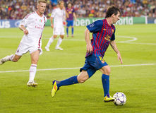 Lionel Messi - FC Barcelona vs Milan Stock Photography
