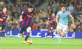 LIONEL MESSI FC BARCELONE Fotos de Stock Royalty Free