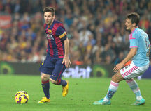 LIONEL MESSI FC BARCELONE Royalty-vrije Stock Fotografie