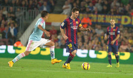 LIONEL MESSI FC BARCELONE Foto de Stock Royalty Free