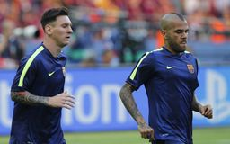 LIONEL MESSI FC BARCELONE Stockfotos