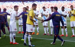 Lionel Messi FC Barcelone v La Corogne Liga - Espagne Royalty Free Stock Images