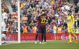 Lionel Messi FC Barcelone v La Corogne Liga - Espagne Royalty Free Stock Photo