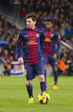 Lionel Messi. Of FCB in action at the Spanish League match between FC Barcelona and Osasuna, final score 5 - 1, on January 27, 2013, in Barcelona, Spain Stock Photo
