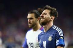 Lionel Messi leenden royaltyfri bild