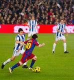 Lionel Messi na ação Imagens de Stock Royalty Free