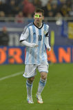 Lionel Messi neckte mit einem Laser Lizenzfreies Stockbild