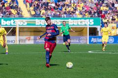 Lionel Messi plays at the La Liga match between Villarreal CF and FC Barcelona Stock Photography